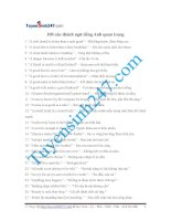 100 thành ngữ Tiếng Anh quan trọng
