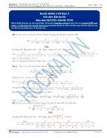 Cách sử dụng bất đẳng thức AM – GM dưới dạng đồng cấp bậc 3
