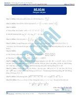Đề số 06  đề thi thử thpt quốc gia 2016 môn toán, khóa pen i n3 thầy nguyễn bá tuấn