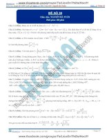 Đề số 10  đề thi thử thpt quốc gia 2016 môn toán, khóa pen i n3 thầy nguyễn bá tuấn
