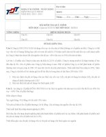 Đề thi quản trị  tài chính doanh nghiệp B đại học Tôn Đức Thắng