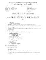 Bài 19  tiết 1 thực hành Trộn dầu giám rau xà lách