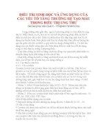 ĐIỀU TRỊ SINH HỌC VÀ ỨNG DỤNG CỦA CÁC YẾU TỐ TĂNG TRƯỞNG HỆ TẠO MÁU TRONG ĐIỀU TRỊ UNG THƯ