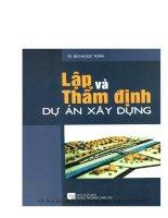 Lập và thẩm định dự án xây dựng (NXB giao thông vận tải 2006)   ts  bùi ngọc toàn, 193 trang