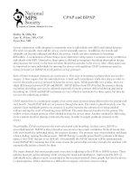Chế độ thở CPAP và BiPAP
