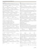 Bài tập Đại Cương về DAO ĐỘNG CƠ HỌC hay