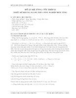 ĐỒ ÁN BÊ TÔNG CỐT THÉP II - THIẾT KẾ KHUNG NGANG NHÀ CÔNG NGHIỆP MỘT TẦNG, LẮP GHÉP 3 NHỊP ĐỀU NHAU, Lk = 22,5m