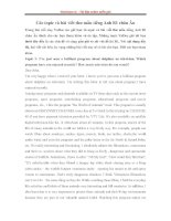 Các topic và bài viết thư mẫu tiếng anh b1 châu âu   luyện viết tiếng anh