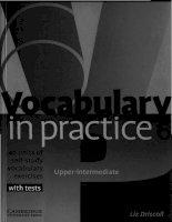 Vocabulary in practice 6 upper intermediate