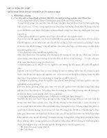 ĐỀ CƯƠNG ÔN TẬP MÔN PHƯƠNG PHÁP NGHIÊN CỨU KHOA HỌC