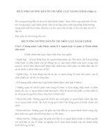 ĐỀ CƯƠNG HƯỚNG dẫn ôn THI môn LUẬT HÀNH CHÍNH PHẦN 1 3