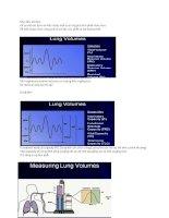 Bài giảng thông khí cơ học ( Phần 2)