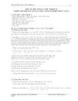 ĐỒ ÁN BÊ TÔNG CỐT THÉP II - THIẾT KẾ KHUNG NGANG NHÀ CÔNG NGHIỆP MỘT TẦNG, LẮP GHÉP 3 NHỊP ĐỀU NHAU