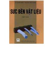 Giáo trình sức bền vật liệu tập 2 (NXB giáo dục 2004)   lê quang minh, 109 trang