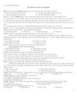 TUYỂN tập TRẮC NGHIỆM môn NGỮ văn LUYỆN THI vào 10