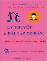 LUONG TU ANH SANG  VAT LY HAT NHAN ( Luyen thi dai hoc 2016)