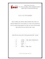 HOÀN THIỆN hệ THỐNG PHÂN PHỐI CHO CÔNG TY TRÁCH NHIỆM hữu hạn CHÂU âu VIỆT NAM (EUROVN) với sản PHẨM BOURJOIS tại THỊ TRƢỜNG THÀNH PHỐ hồ CHÍ MINH GIAI đoạn 2012   2020