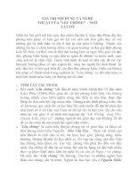 GIÁ TRỊ NỘI DUNG và NGHỆ THUẬT Tác phẩm Lều Chõng của Ngô Tất Tố