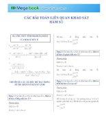 33 dạng bài toán liên quan đến khảo sát hàm số