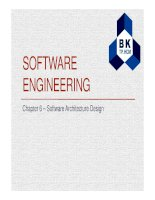 SOFTWARE ENGINEERING Chapter 6 – Software Architecture Design