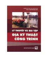 Ebook lý thuyết và bài tập địa kỹ thuật công trình  phần 1