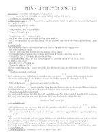 TỔNG HỢP KIẾN THỨC SINH 12 ÔN THI THPT QUỐC GIA