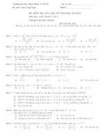 Đề kiểm tra giữa kì môn giải tích 2