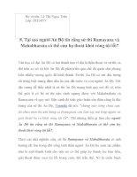 Tại sao người Ấn Độ tin rằng sử thi Ramayana và Mahabharata có thể cứu họ thoát khỏi vòng tội lỗi