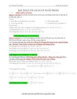 Bài toán về lãi suất ngân hàng