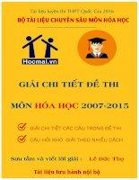 GIAI CHI TIET MON HOA  DAI HOC 2007 2016