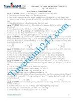 450 bài tập trắc nghiệm lý thuyết vật lý 12 hay