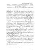 NGHIÊN cứu sử DỤNG ĐỘNG vật KHÔNG XƯƠNG SỐNG cỡ lớn để ĐÁNH GIÁ CHẤT LƯỢNG nước TRÊN 4 hệ THỐNG KÊNH CHÍNH tại THÀNH PHỐ hồ CHÍ MINH