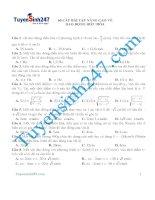 60 câu bài tập nâng cao về dao động điều hòa