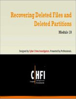 Module 10 recovering deleted files and deleted partitions