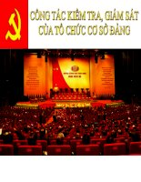 Bài giảng lý luận và nghiệp vụ công tác đảng   bài 12  công tác kiểm tra, giám sát của tổ chức cơ sở đảng