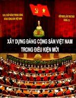 Bài giảng lý luận và nghiệp vụ công tác đảng   bài 4  xây dựng đảng cộng sản việt nam trong điều kiện mới