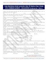 phương pháp giải bài tập về các phản ứng tách , miễn phí