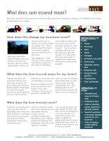Sum insured fact sheet 2