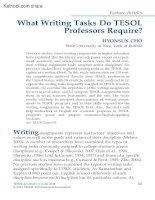 WHAT WRITING TASKS DO TESOL PROFESSORS REQUIRE HYONSUK CHO