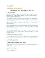Triệu chứng học nội khoa: Chương VII triệu chứng học nội tiết