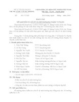 BÁO CÁO Kết quả kiểm tra yếu tố vệ sinh trường học huyện Vị Xuyên