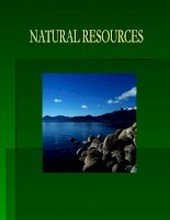 Concept and classification of natural resources