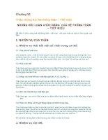 Triệu chứng học nội khoa: Chương VI thận tiết niệu khớp thiếu máu