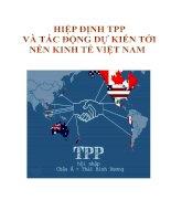 Hiệp định TPP và tác động dự kiến đến nền Kinh tế Việt Nam