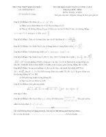 free đề thi thử môn toán trường thpt khoái châu lần 1
