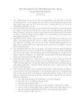 Bài tập tình huống môn Tố tụng dân sự