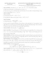 free đề thi thử toán trường thpt chuyên hưng yên lần 1