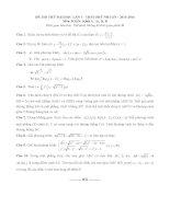 free đề thi thử toán trường  thpt phú nhuận