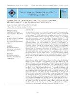 Ảnh hưởng của hỗn hợp vi khuẩn bacillus chọn lọc lên luân trùng nước lợ brachionus plicatilis