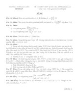 free đề thi thử môn toán trường thpt kim liên lần 1